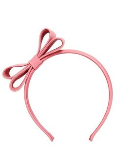 RED Valentino Bow Leather Headband on shopstyle.com