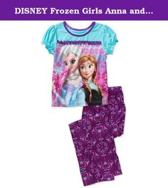 DISNEY Frozen Girls Anna and Elsa 2 Piece Pajama Set, M(7-8), Blue. DISNEY Frozen Girl Anna and Elsa Short Sleeve Pajama Set.100% POLY WASH BEFORE WEAR. TURN INSIDE OUT. MACHINE WASH COLD, GENTLE CYCLE, WITH SIMILAR COLORS. TO RETAIN FLAME RESISTANCE USE DETERGENT. DO NOT USE SOAP. ONLY NON-CHLORINE BLEACH WHEN NEEDED. TUMBLE DRY LOW. REMOVE PROMPTLY. DO NOT IRON.