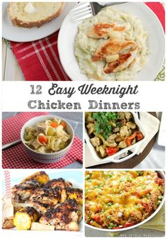 If you happen to be looking for new chicken recipe ideas that will shake up that usual weeknight dinner plan, then this collection of 12 Easy Weeknight Chicken Dinners is definitely for you.