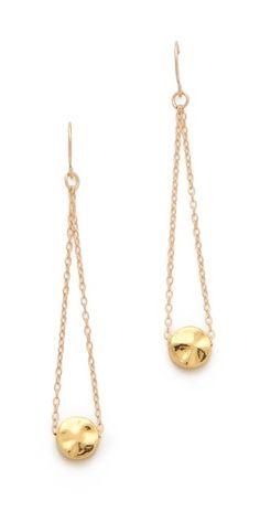 Gold chain and disk earrings