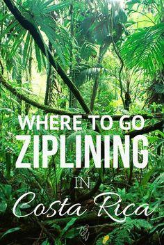 Ziplining in Monteverde, Costa Rica with 100% Aventura canopy tours! Try the Tarzan swing too!!!