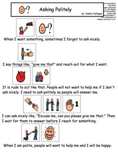 Visual Social Story Packet for Children with Autism: Communication Set 1 Teaching Social Skills, Social Emotional Learning, Speech Language Therapy, Speech And Language, Social Stories Autism, Learning Support, School Social Work, Autism Classroom, Coping Skills