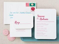 Bella Wedding Invitation | photo by Claudia López Photography #weddinginvitations