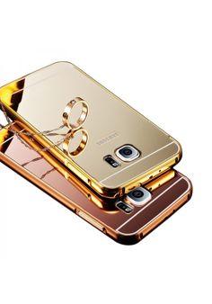Para Samsung Galaxy S7 S7 Edge Case lujo estilo espejo Frame Metalico Ultra delgado Acrilico