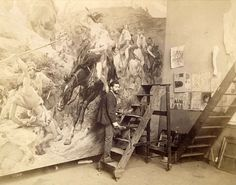El pintor venezolano Arturo Michelena en su estudio en París. Foto cortesía de Frick Collection (1885-1890)