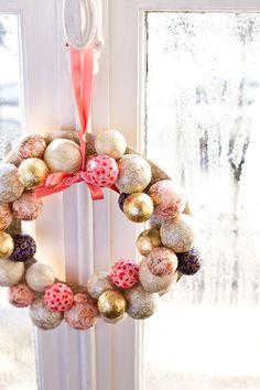 DIY couronne de Noël / Washi christmas wreath