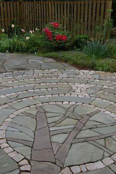 42 Amazing DIY Garden Path and Walkways Ideas, Diy Garden, Garden Paths, Garden Projects, Garden Art, Path Design, Landscape Design, Garden Design, Design Ideas, Backyard Landscaping