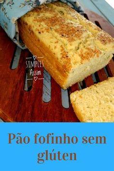 Esse pão sem glúten é rápido de fazer e fica bem fofinho.