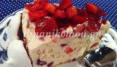 Frozen Desserts, Pavlova, Greek Recipes, Gelato, Food To Make, Cheesecake, Ice Cream, Yummy Food, Sweets
