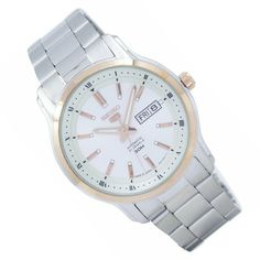 Seiko Automatic Watches, Seiko Watches, Stainless Steel Bracelet, Stainless Steel Case, Japan, Cool Watches, Michael Kors Watch, Bracelet Watch, Sports