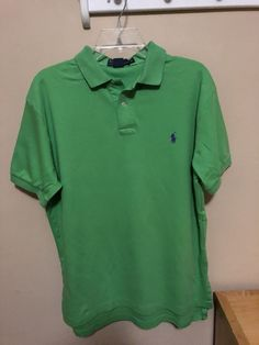 da37257713446 Ralph Lauren Polo Shirt Men s Size Medium - Lime Green