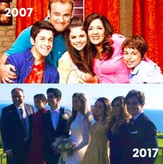 IM CRYING RIGHT NOW- THE WIZARDS OF WAVERLY PLACE CAST WHEN THE SHOW FIRST STARTED AND NOW AT DAVID'S WEDDING