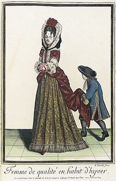 1672 Lady of Quality in winter costume
