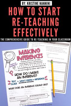 Check out this post to learn some strategies for effective re-teaching. I show to make your lesson visual, provide step-by-step instructions and show examples of my anchor charts, teacher scripts, progress monitoring, and passages. 5th Grade Classroom, Middle School Classroom, High School, Close Reading Strategies, Teacher Blogs, Teacher Stuff, Elementary Teacher, Upper Elementary, Sixth Grade