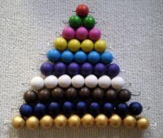 Wczesna Edukacja Antka i Kuby : Tutorial - Kolorowe Schodki Montessori / Homemade Short Bead Stairs - Tutorial Montessori Kindergarten, Montessori Materials, Life Design, Tutorial, Handmade Christmas, Beaded Bracelets, Diy, Stairs, Homemade