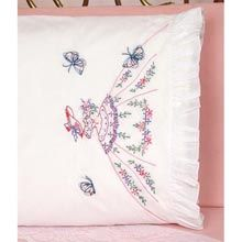 Lady with Butterflies Pillowcase Pair