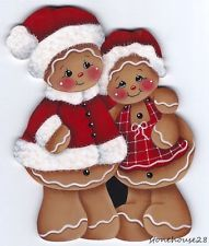 HP GINGERBREAD Mr and Mrs Claus FRIDGE MAGNET