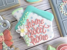 """77 Likes, 3 Comments - Holli (@the_cookie_confectionery) housewarming, key, door on Instagram: """"Sweet Sugarbelle's gingerbread house cutter also makes a great housewarming cookie!…"""""""