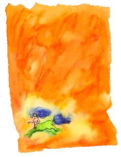 An watercolor painting of a lady centaur, with a bursting background of orange and yellow. Only one print available. Fantasy Art - Centaur Ar The print is x Watercolors, Watercolor Paintings, Centaur, Orange, Yellow, Fantasy Art, Lady, Artwork, Water Colors