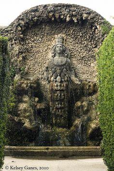 Villa d'Este - Diana of Ephesus, multi-breasted fertility goddess, by kganes, via Flickr