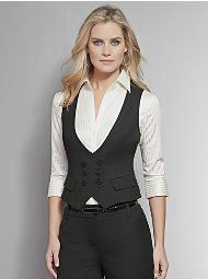 Suit I just bought! It looks great on! So feminine and professional, but still s… Suit I just bought! It looks great on! So feminine and professional, but still sexy 🙂 Business Outfits, Office Outfits, Business Fashion, Vest Outfits, Casual Outfits, Fashion Outfits, Professional Wardrobe, Work Wardrobe, Work Fashion