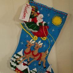 Bucilla Must Be Santa Felt Christmas Advent Calendar Kit Christmas Stocking Kits, Felt Christmas Stockings, Felt Stocking, Felt Christmas Ornaments, Christmas Toys, Greeting Card Holder, Christmas Express, Felt Wall Hanging, Christmas Wall Hangings