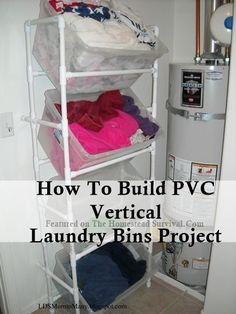 The Homestead Survival | How To Build PVC Vertical Laundry Bins Project | http://thehomesteadsurvival.com