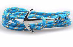 Anchor Bracelet - Silver Anchor, Turqoise GuysDrawer.com