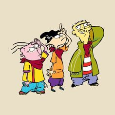 I loved this cartoon about the mischievous adventures of three middle school boys, out to make one quarter at a time! I love it when they show reruns. Cartoon Shows, Cartoon Pics, Cartoon Drawings, Cartoon Art, Cartoon Characters, Ed Edd Y Eddy, Ed And Eddy, Du Dudu E Edu, Old Cartoon Network