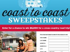 Enter the Country Living Go RVing Sweepstakes for a chance to win $5,000!