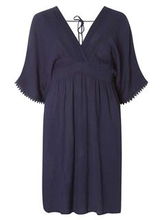 Navy Kimono Sleeve Midi Dress - Dorothy Perkins