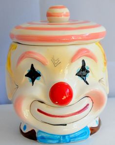 VINTAGE LEFTON CLOWN COOKIE JAR