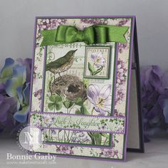 Feb 2015 G45 Time to Flourish & RRR - Luck & Laughter Card by Bonnie Garby