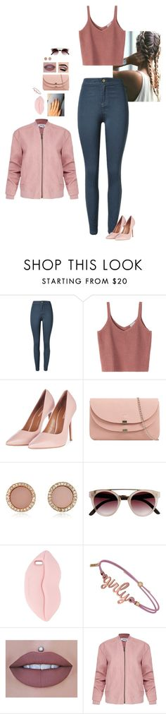 """Pretty in Pink"" by hanakdudley ❤ liked on Polyvore featuring Topshop, Michael Kors, STELLA McCARTNEY and Helmut Lang"