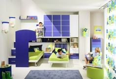Double Loft Beds for Boys Bedroom Design Ideas Double Loft Beds for Boys Bedroom Design Idea By Giessegi with Blue and White Furnitures – Home Designs and Pictures Girls Room Design, Kids Bedroom Designs, Bedroom Ideas, Nursery Design, Teen Bedroom, Modern Bedroom, Double Loft Beds, Boys Room Colors, Cool Kids Rooms