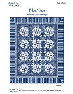 Blue Storm by Jean Ann Wright, Make It with Marcus, Marcus Fabrics  free project