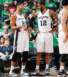Spurs Tim Duncan and LaMarcus Aldridge.
