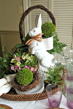 Inspired Easter Tablescape -Momo