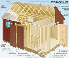 Garden Sheds Blueprints 12x16 shed plans - gable design - pdf download | storage, backyard