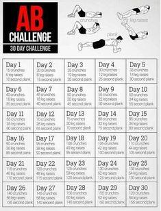 30 Day Abs Challenge #Various #Trusper #Tip