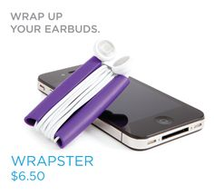cord wrap for iPod earbuds