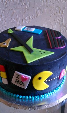 80's themed birthday cake - I need this on my 40th!