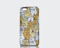 Cat iPhone 5c Case kitty designed by Gemma by IconemesisEtsy