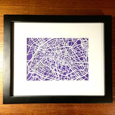 Paper cut map of Paris France by CUTdesignsrt on Etsy Paris Map, Paris France, Color Swatches, Art Market, Paper Cutting, Maps, Custom Design, My Etsy Shop, Frame