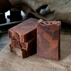Handmade 1 oz sample of Hair of the Dog (whiskey soap with a splash of coffee) - Outlaw Soaps: Handmade Soap and Lotion - 1
