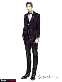Exclusive: See George Clooney's Armani Wedding Tuxedo Sketch (and the Custom Label Stitched Inside!) http://stylenews.peoplestylewatch.com/2014/09/30/george-clooney-wedding-tuxedo-armani-sketch-photos/