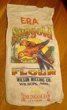 Antique Flour Sack 24 lbs. Sungold Flour Wilson Milling Co. Wilson Ark. | eBay Flour Sacks, Milling, Fabric Panels, Ark, Snack Recipes, Packaging, Antiques, Ebay, Food
