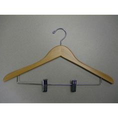 Proman Genesis Flat Suit Hanger with Wire Clips - 50 Pieces - GND8804