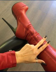 (notitle) - Boots and Heels I like - Schuhe Thigh High Boots, High Heel Boots, Over The Knee Boots, Heeled Boots, High Leather Boots, Stiletto Boots, Hot High Heels, Sexy Boots, Designer Boots