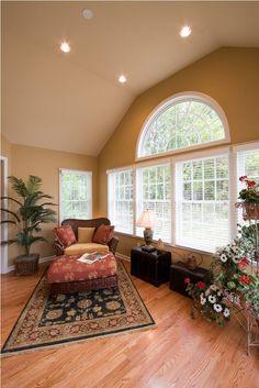 Spacious sunroom with beautiful windows